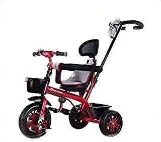 DPL - Kids tricycle With push Bar Ride On Bike Red