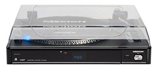 MEDION MD 83821 USB Plattenspieler Umwandlung: USB-Stick / MP3-Player / SD-Card Geschwindigkeitsanpassung ° Invertierte LCD-Anzeige
