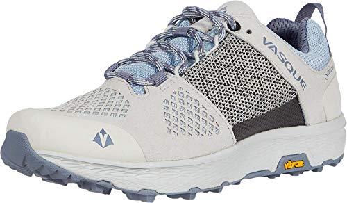 Vasque Herren Mens Breeze LT Low GTX Gore-Tex Waterproof Breathable Hiking Shoe Wanderschuh, Lunar Rock/Himmelblau, 43 EU