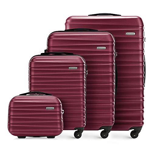 WITTCHEN Koffer-Set 4tlg. Reisekoffer | Burgund | 77x29x52 | Kapazität: 195L | Gewicht: 11,2kg