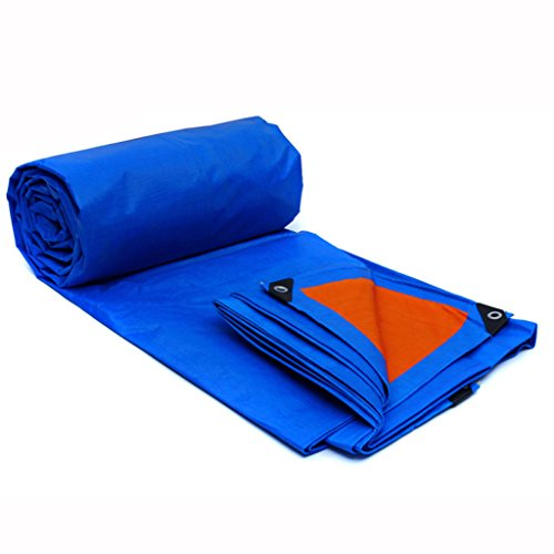 RENJUN Lona Impermeabilizante A Prueba De Agua Sunshade A Prueba De Lluvia Paño del Toldo Paño Carro Triciclo Encerado Tienda de Lona (Color : Blue Orange, Size : 3 * 2m)