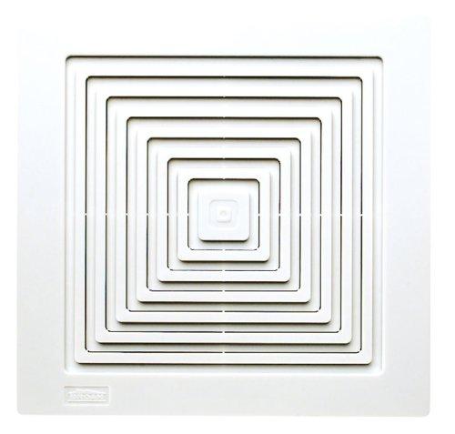 Broan-Nutone 670 Ventilation Fan, White Square Ceiling or Wall-Mount Exhaust Fan, 50 CFM, 3.5 Sones