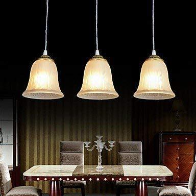 Moderne kroonluchters plafondlampen hanger brons kroonluchter drie lampen modi glas lampenkappen vintage Europese 220 V 3C ce Fcc Rohs voor woonkamer slaapkamer