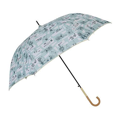 小川(Ogawa) 長傘 雨晴兼用雨傘 ジャンプ式 60cm 8本骨 ムーミン/テーブル UV加工 はっ水 85862