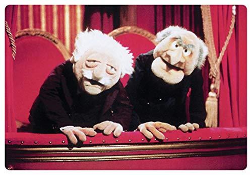 Blechschild 20x30cm gewölbt Waldorf und Statler Muppet Show Deko Geschenk Schild