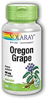 Solaray Oregon Grape Root - 400 mg - 100 Capsules