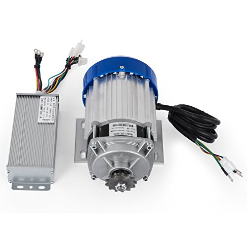 VEVOR Electric Motor 48V 750W DC Motor 600 RPM Rated Speed Brushless Motor with Controller Suitable for DIY Tricycle E-bikes Electric Scooters