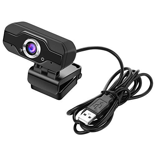 ERJQ USB-webcamera 1080P, 2MP HD-webcams ingebouwde microfoon Clip-On webcamera voor live streaming, gaming, telefoongesprekken en conferenties compatibel met meerdere apparaten