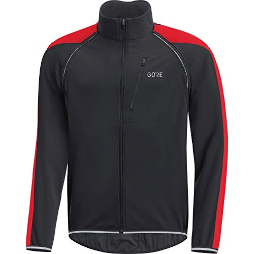 GORE C3 GORE WINDSTOPPER PHANTOM Zip-Off Jacket, S, black/red