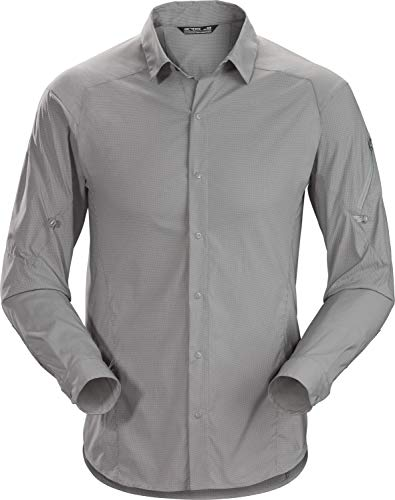 Arcteryx M Elaho Long-Sleeve Shirt Grau, Herren Hemd, Größe XXL - Farbe Cryptochrome