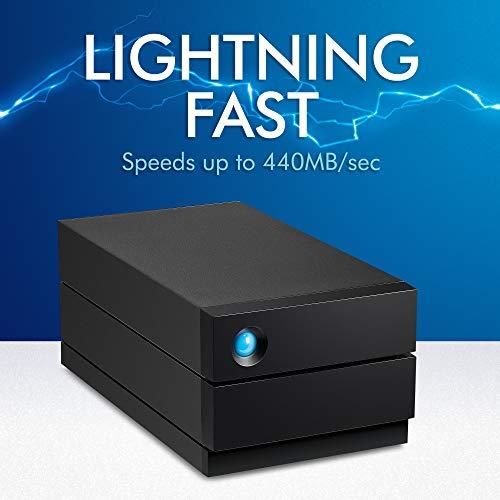 LaCie 2big RAID 8TB External Hard Drive Desktop HDD – USB-C USB 3.0 7200 RPM Enterprise Class Drives, Recovery Service (STHJ8000800)