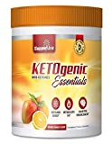 Ketogenic Essentials Exogenous Ketones Keto Powder Drink Mix- BHB Ketones - Zero Sugar, Zero Carbs, Zero Caffeine - Inch and Weight Loss - Orange Mango
