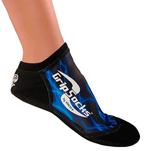 Sand Socks Aqua Sprite Grip Socks Large Blue Lighting