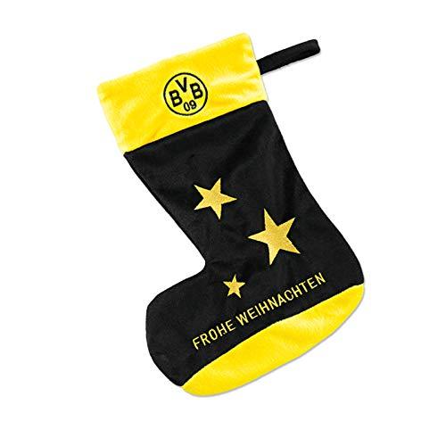 Borussia Dortmund Unisex Bvb-weihnachtsstrumpf Socken, Schwarzgelb, Einheitsgröße