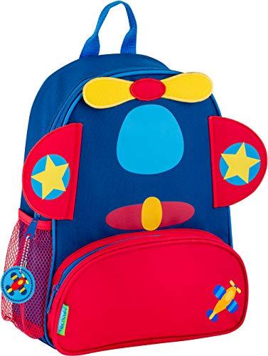Stephen Joseph Boys' Little Sidekicks Backpack, Airplane, Blue