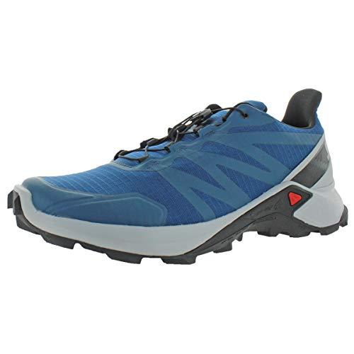 SALOMON Supercross Trail Running pour Homme. - - Poseidon Pearl Blue Black, 44 2/3 EU