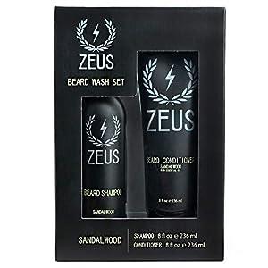 ZEUS Men's Beard Shampoo & Beard Conditioner Set – US MADE – Soften, Hydrates, & Moisturizes, Prevents Itching & Flaking… 6