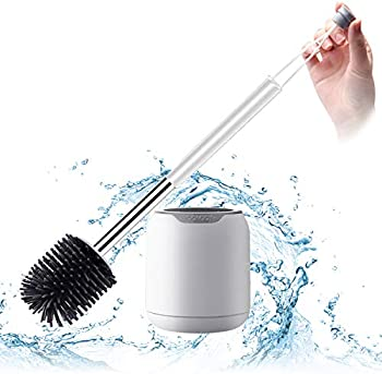 Boomjoy Wall Mounted Toilet Bowl Brush with Holder