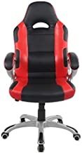 Racoor Video Gaming Chair, Black and Red - H 124 cm x W 48 cm x D 50 cm