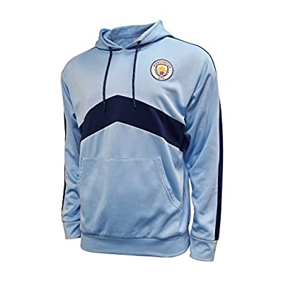 Icon Sports Manchester City F.C. Pullover Hoodies (Medium, Blue & Navy)