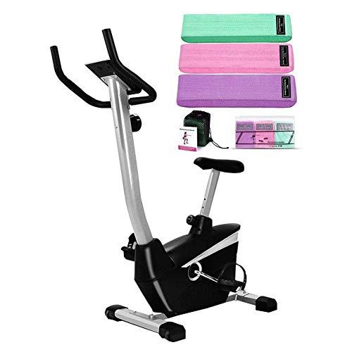 HJRBM Bicicletta da Spinning per Allenamento con Elastici, Bicicletta Verticale Magnetica per Interni con Sedile Comfort, Attrezzatura calorica per Palestra Domestica
