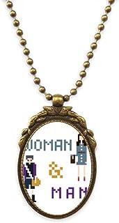 Men Women Backpacks Jewelry Antique Necklace Vintage Bead Pendant Keychain