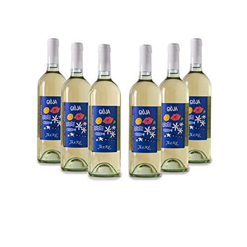 Trerè Vino Bianco Pregiato Frizzante Pignoletto DOC 6 Bottiglie Regalo Uomo Compleanno Idee Regalo Anniversario Matrimonio Servire Refrigeratore Vino In Calici Vino Bianco Bicchieri Vino Glacette