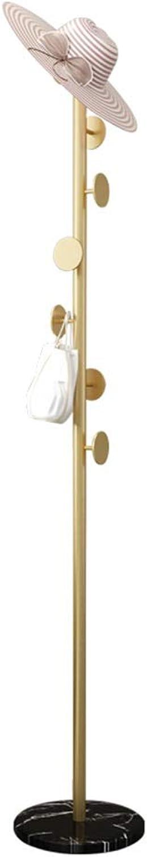 Coat Rack Coat Rack Bedroom Floor Coat Rack Simple Modern Marble gold Hanger