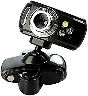 YIJ-YIJ Webcam with Microphone, HD Computer Camera USB Camera Network Video Camera Night Vision Light Camera