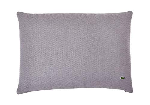 Lacoste Kissenbezug, Baumwoll-Mischgewebe Standard grau