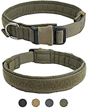 EXCELLENT ELITE SPANKER Puppy Collar Military Dog Collar Adjustable Quick Release Nylon Dog Collar for Small Medium Dog Soft Padded Dog Collar(RGN-S)