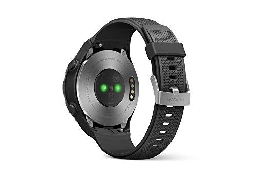 Huawei Watch 2 (Bluetooth) Smartwatch mit Schwarzem Sportarmband (NFC, Bluetooth, WLAN, Android Wear 2.0) Schwarz