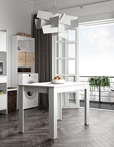 Temahome 2280A2121X00 - Mesa para comedor (110 x 70 x 73,4 cm), color blanco ⭐