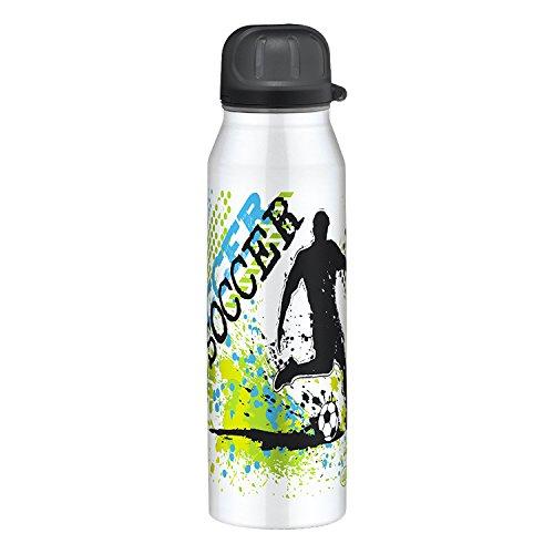 alfi 5337.712.050 Isolier-Trinkflasche isoBottle II, Edelstahl Soccer 0,5 Liter, 12 Stunden heiß, 24 Stunden kalt, BPA-Free