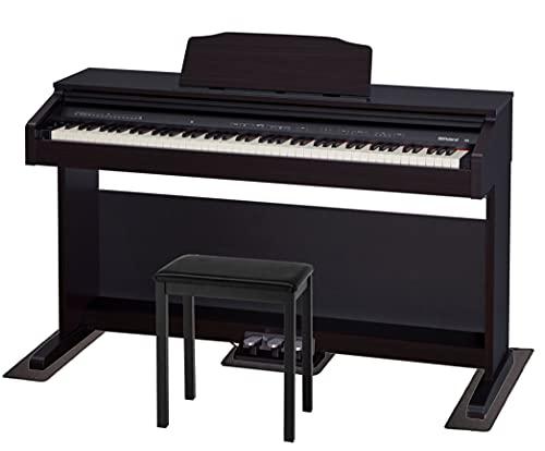【配送/組立設置料込み】Roland ローランド DigitalPiano 電子ピアノ 88鍵盤 RP30 (高さ固定椅子BNC-11BKセット, ❹防音防震マット&延長5年保証セット)
