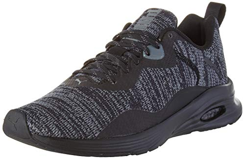 PUMA Herren Hybrid Fuego Knit Sneaker, Schwarz Black-Castlerock, 47 EU