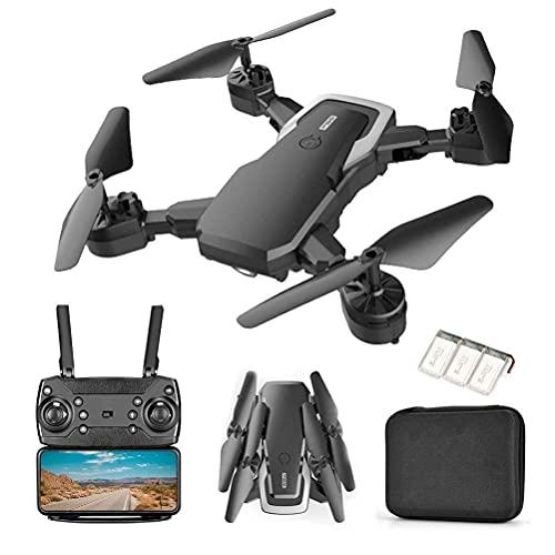 DCLINA Mini Drone Pieghevole Dotato videocamera HD 4K con WiFi FPV Trasmissione Immagini in Tempo Reale Telecomando a 2,4 GHz 60 Minuti Durata della Batteria Controllo App Mobile