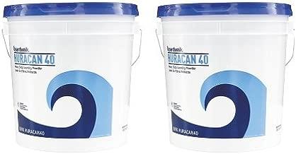 Boardwalk HURACAN40 Low Suds Industrial Powder Laundry Detergent, Fresh Lemon Scent, 40lb Pail (2-(Pack))