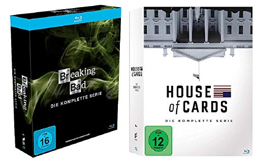 Breaking Bad Die komplette Serie + House of Cards Die komplette Serie [Blu-ray Box Set]