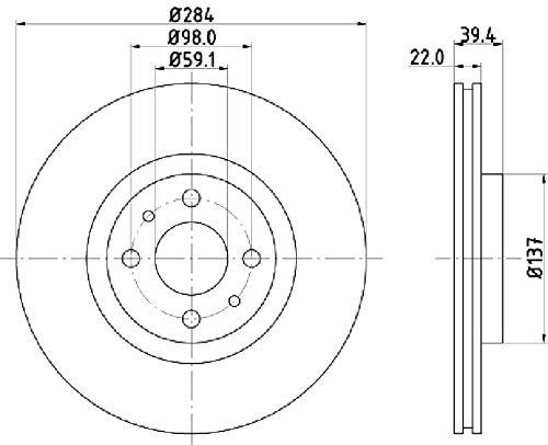 Disco de freno (1 pieza) 036-2160150C