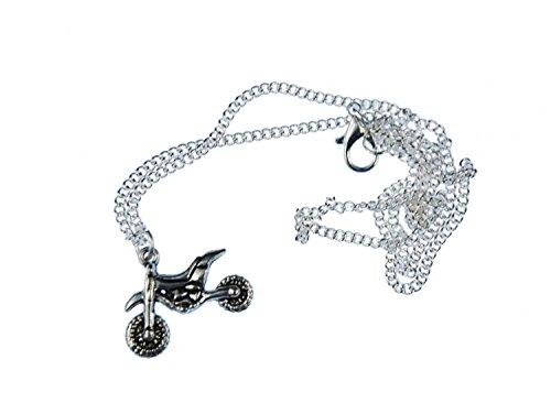 Miniblings Motorrad Enduro Halskette - Handmade Modeschmuck I Kette mit Anhänger Länge: 45cm - Dirt Bike Cross Maschine