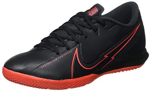 Nike Vapor 13 Academy IC, Football Shoe Unisex Adulto, Black/Black-Dark Smoke Grey, 40 EU