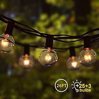 Cadena de Luz G40 8M Guirnaldas Luminosas de Exterior con 25