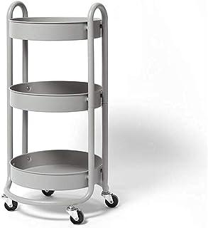FGVDJ Support de Stockage 3 Niveaux de Chariot de Rangement de Cuisine rayonnage en métal à Usage de cartll, Organisation ...