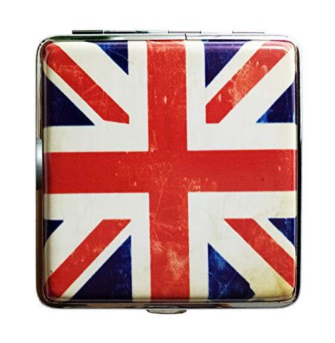ZIGARETTENETUI England Fahne für 20 Zigaretten Leder Etui Zigarettenbox Case Zigarettendose Dose 75 (Shabby-Look)
