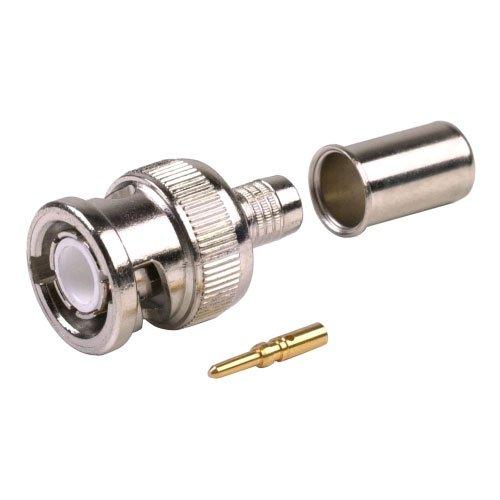 [4 CONNECTORS] BNC Male Coax Connector for 50 Ohm RG8/X, Belden 9258...