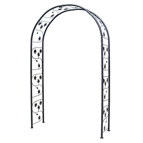 ローズアーチ 鉄製アーチ・アイビー 黒 1個 ブラック ガーデンアーチ バラアーチ アイアン 幅150×奥行45×高さ240cm パイプ径32mm