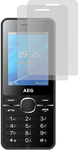4ProTec I 2X Schutzfolie MATT passexakt für AEG Voxtel M1250 - Displayschutzfolie Schutzhülle