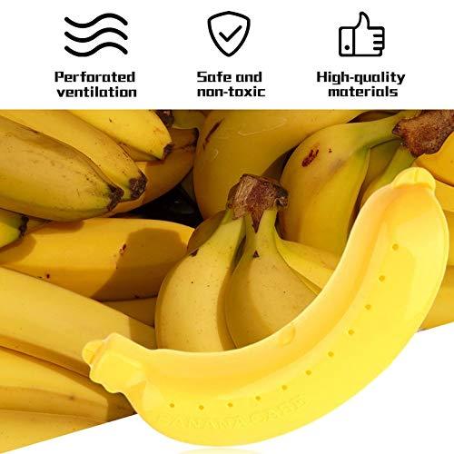 Banana Protective Box - Portátil Banana Protective Box Fruit Holder Universal Banana Case Lunch Contenedor Caja de Almacenamiento para niños - Amarillo