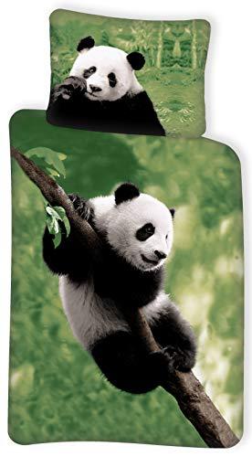 BrandMac ApS 100% Cotton Panda Bedding Set - Duvet Cover 140 x 200 cm + Pillowcase 65 x 65 cm